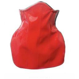 Corset skirt, red patent