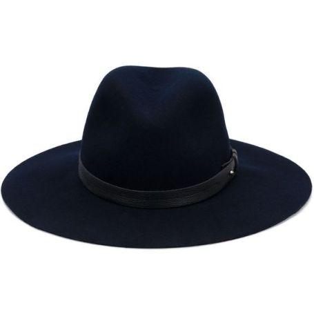 Large wide brim wool hat